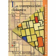 Transposición Didáctica Yves Chevallard (ai) - $ 250,00
