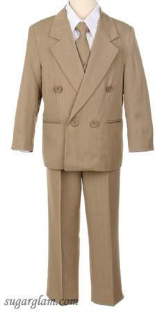 Jacket+Pants+tie+Corset HBDesign Boys4 Piece 2 Button Slim Fit Party Suite Ivory White
