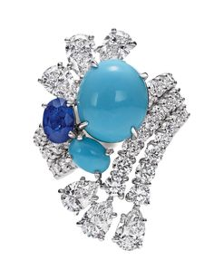 Splash Turquoise ring from the Harry Winston Water collection.