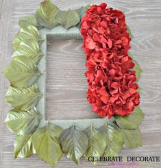 Next time you're at Michaels, grab those fake RED hydrangeas and copy this woman's stunning Christmas wreath idea!