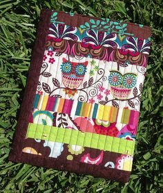 Quilted Owl iPad cover by Three Owls, via Flickr