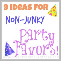 9 Ideas for Non-Junky Party Favors from Palmettos and Pigtails