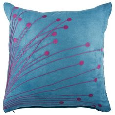 Ping Embroidered Filled Cushion Teal