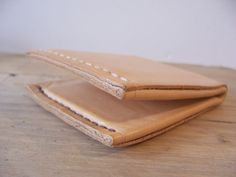 My first handmade leather billfold wallet! Out of 1 piece and only two saddle stitched seams.