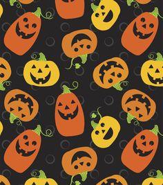 Holiday Inspirations Fabric Halloween Jacks And Dots