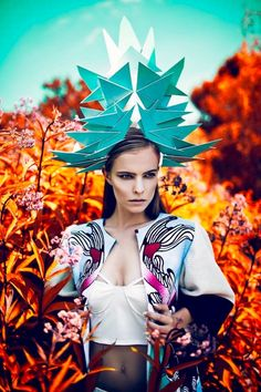 New Fashion Photography Editorial Ideas Headdress 37 Ideas Foto Fashion, Fashion Shoot, New Fashion, Trendy Fashion, Fashion Art, Fashion Models, Fashion Design, Fashion Painting, Fashion Online