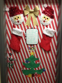 i like the idea of stockings with our names on them and we could have dorm lifecollege lifecollege girlschristmas door decorationsdorm - College Christmas Decorations