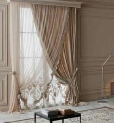 New 4 panels elegance sheer voile curtains with 3 scrafs for Portable window curtain