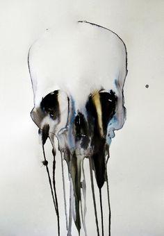 Watercolour Skull Prints by Dylan Silva