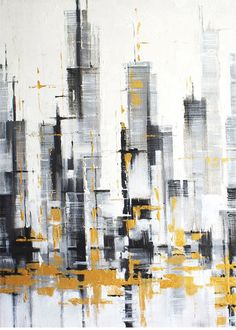 City Abstract Painting Artworks Cityscape Painting Modern Urban Abstraction Acrylic Abstract Painting On Canvas by Julia Kotenko - City abstract painting urban works of art modern painting Building Painting, City Painting, Oil Painting Abstract, Acrylic Painting Canvas, Abstract City, Cityscape Art, City Art, Oeuvre D'art, Artwork