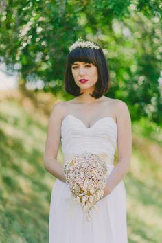 Wedding Dresses – Ruched Silk Georgette Sweetheart dress – a unique product by Loveybyisha via en.DaWanda.com