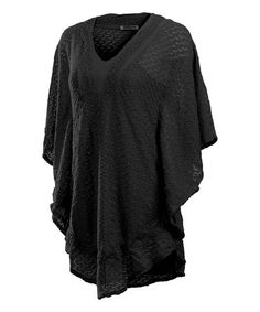Look what I found on #zulily! Black V-Neck Dress #zulilyfinds
