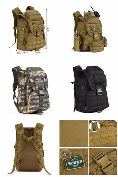 [Visit to Buy] Ourdoor Men Waterproof Molle Trekking Bag Military 3P Tactics Backpack Knapsack Women Assault Cordura Bag Packsack Man Backpacks #Advertisement