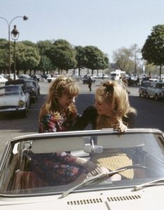 Francoise Dorleac and Catherine Deneuve in Paris, 1964