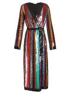Vintage 80s Long Sheer Sequin Bead Duster Coat Http