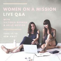 If you believe you were put on this earth to do something positive this one is for you  Tomorrow 17th Oct @ 4pm AWST my amazing friend @victoria_bauman (who is also an incredible coach for feminine leaders) and I are going to go live on Insta to share the inside scoop about being WOMEN ON A MISSION.  We are here to help and we want your questions!  We are open to sharing about anything from how we started our businesses boundaries finding motivation spiritual practices and self-care to… Believe In You, Love You, Finding Motivation, Independent Business, Spiritual Practices, Intuition, Something To Do, Peeps, Best Friends
