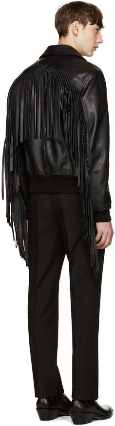 GIVENCHY fringed aviator jacket