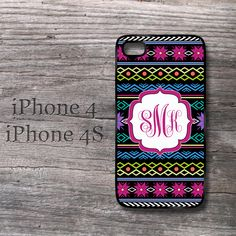 iPhone Knitting pattern personalized monogrammed snap on case