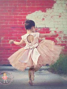 Cute A-line Short Flower Girl Dress with Open Back