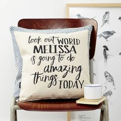 Look Out World Personalised Cushion