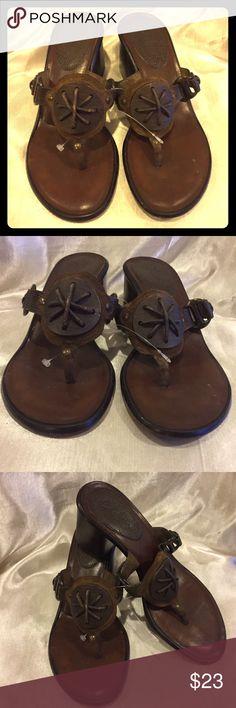 Cole Haan Brown Block heel sandal size 5 1/2  GUC Cole Haan Brown block heel sandals size 5.5 GUC Cole Haan Shoes Sandals