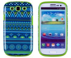 DandyCase 2in1 Hybrid High Impact Hard Blue Aztec Tribal Pattern + Lime Green Silicone Case Case Cover For Samsung Galaxy S3 i9300 + DandyCase Screen Cleaner, http://www.amazon.com/dp/B00FAWTMF2/ref=cm_sw_r_pi_awdm_Ylfatb03M6J7Y