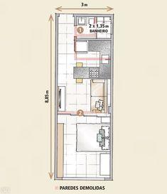 quitinete de 26 m²