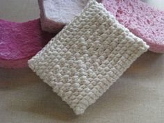 Free Crochet Pattern: Big Girl Dish Scrubby // This beats the heck out of using those synthetic kitchen sponges. Make one for every day of the week and toss it in the washing machine instead of the trash.