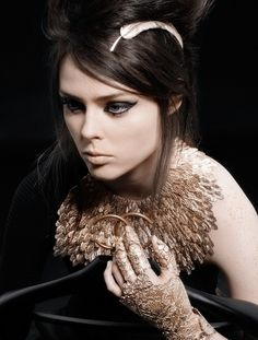 Feather collar - Coco Rocha for Chanel Pre-Fall 2008.
