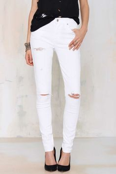 A Gold E Sophie Skinny Jean - White | Shop Clothes at Nasty Gal!