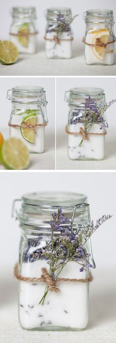 Infused Sugar Jars | Click Pic for 18 DIY Bridal Shower Party Ideas on a Budget | DIY Engagement Party Decorations Ideas Decor