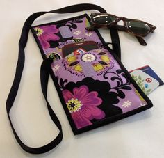 Cell Phone Women's Wallets Purple Sling by EverestRanchCreation