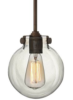 Hinkley Lighting 3128OZ Oil Rubbed Bronze 1 Light Indoor Mini Pendant with Clear Globe Shade from the Congress Collection