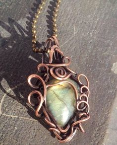 Unique Oxidized Copper Wire Wrapped  Quality by CraftsbyLayna, $28.00