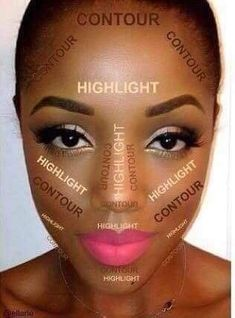 Applying to makeup or contouring dark skin tone a little bit tricky. Using these makeup tips can help you to counter and highlighting your dark skin easily. Contour Makeup, Contouring And Highlighting, Eye Makeup, Makeup Jars, Contouring Brown Skin, Makeup Emoji, Eyebrow Makeup Tips, Makeup Eyebrows, Fairy Makeup