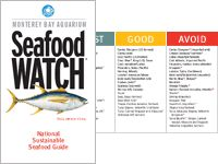 Ocean-friendly seafood recommendations from Monterey Bay Aquarium that helps consumers know which seafood to buy or avoid.