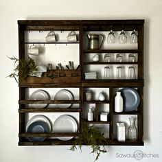 Pottery Barn Inspired Plate Rack - Sawdust 2 Stitches