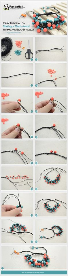 Easy Tutorial on Making a Multi-strand String and Bead Bracelet by vickyhall | Project | Jewelry / Bracelets | Kollabora