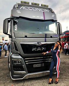 Big Rig Trucks, Rc Trucks, Semi Trucks, Customised Trucks, Bmw Girl, Toyota Hiace, Engin, Trucks And Girls, Future Car