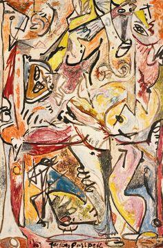 The Blue Unconscious(1946) - Jackson Pollock