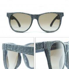 Salvaged Jeans: Wayfarer Style Cassini Sunglasses handmade from Upcycled Denim