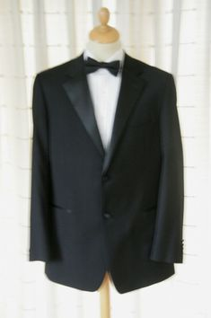 c642724b2f442 44 LONG TAYLOR   WRIGHT BLACK DINNER TUXEDO SUIT JACKET WORN ONCE  fashion   clothing