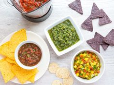 Break Out the Blender : Salsas can be a tangy relish to serve with grilled chicken or fish, add a picante kick to braised or stewed dishes, or bring a herbaceous freshness to charred tortillas (or, of course, chips!). Start with a blender (and our easy, mix-and-match ingredient combos), and you can achieve silky-smooth or chunky salsas in a flash.