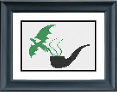 Pipe with Green Dragon Smoke  The Lord of the by PopularStitch, $3.99