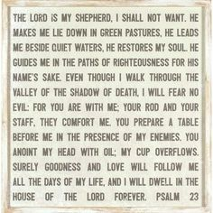 Winston Porter This Framed Psalm 23 Wood Wall Décor by Lauren Rader is one of the most loved verses from the bible and is presented on an open-faced print that is mounted in a whitewashed frame with natural wood tones. Frames On Wall, Framed Wall Art, Wall Décor, Wood Wall, Lord Is My Shepherd, Psalm 23, Bible Verses Quotes, Scriptures, Prayer Verses