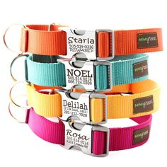 Personalized, no-jiggle Martingale Dog Collar / mimigreen on etsy.  The girls need these!