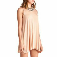 NEW ARRIVAL! Chic Blush Tank Dress Contemporary Style   Blush 96% Polyester  4% Spandex  Made in U.S.A  Size Small  NWOT Directly From Vendor  *Necklace not included   ▪ Price is Firm ▪ No Trades ▪ Fast Shipping April Spirit Dresses Mini