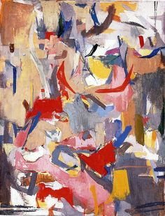 Untitled 1952. Esteban Vicente (1903 –  2001), was an American painter born in Spain. He was one of the first generation of New York School abstract expressionists. He was a founding member of the New York Studio School, where he taught for 36 years. Vicente has a museum devoted to him in Segovia, Spain.