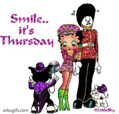 Thursday Images for social networks Thursday Gif, Thursday Images, Happy Thursday Quotes, Betty Boop Tattoos, Fall Images, Promise Rings For Her, Facebook Image, Happy Fall, Birthday Greetings