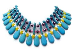 Big Bold Chunky Necklaces Turquoise Stone by Jewelsforhope on Etsy